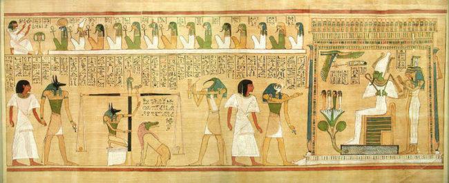 Le concept de la balance et l'Egypte Antique